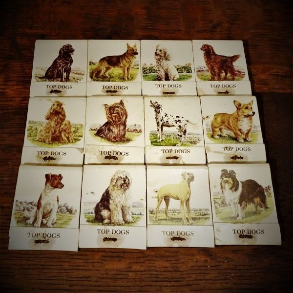 Set of Bryant and May Top Dogs Matchbooks